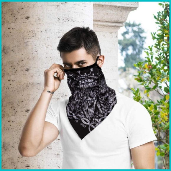 face mask Other - Zombie Skull Mask Scarf w/ Ear Loops Halloween